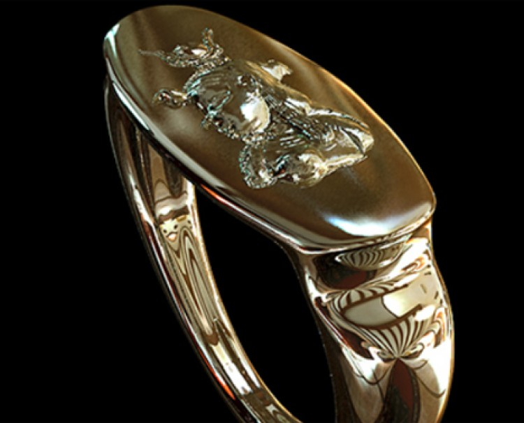 Image of Cleopatra on a ring