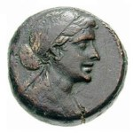 image of Cleopatra on coins
