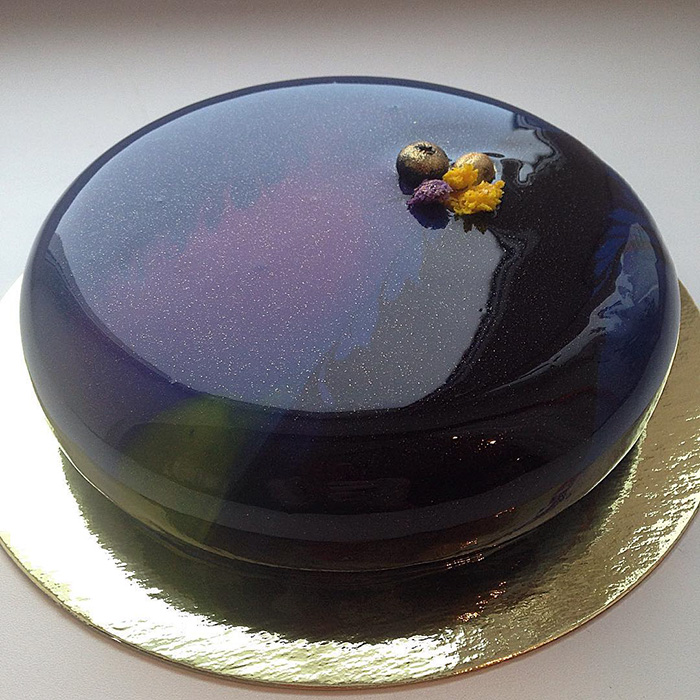Creative Mirror Marble Cakes By Olga Noskova Moco Choco