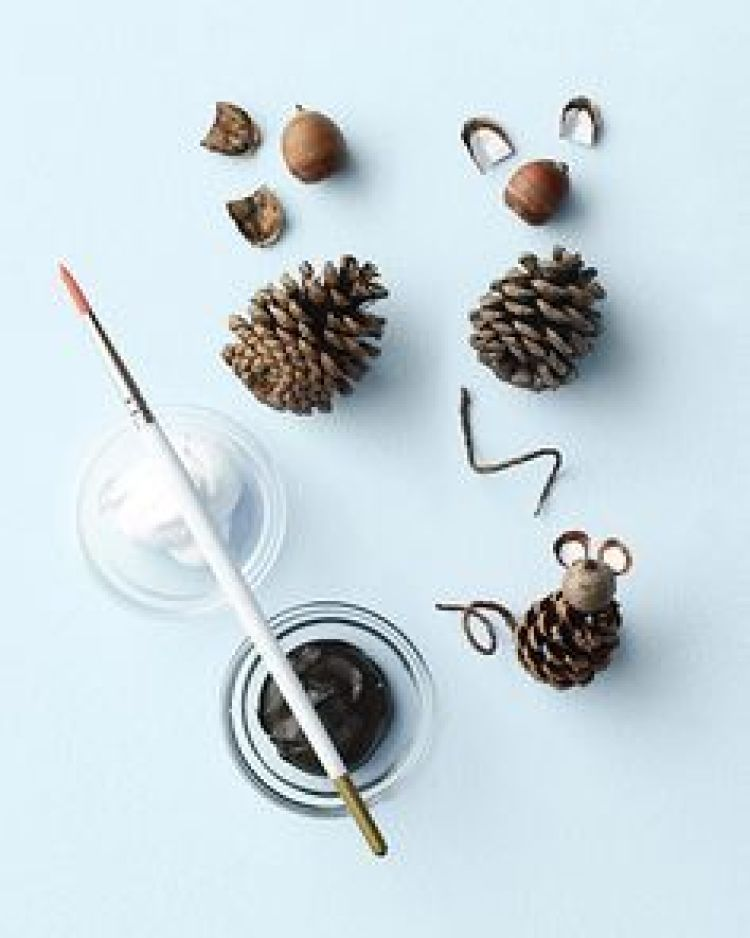 holiday homemade pinecone xmas ornaments 5
