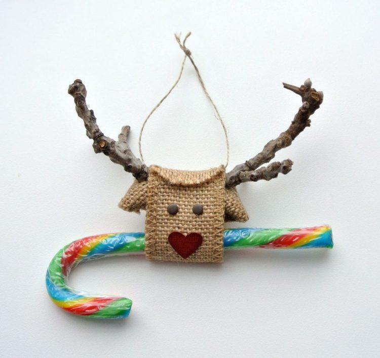 unusual holiday handmade crafts, burlap