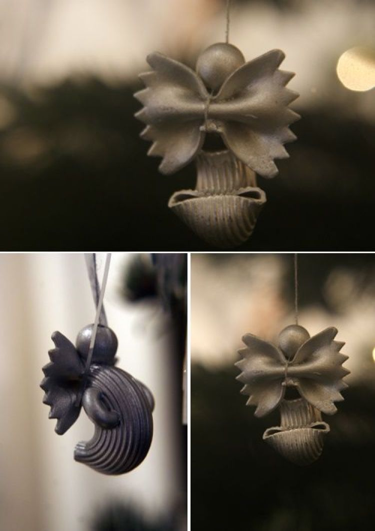unusual holiday handmade crafts, pasta angels