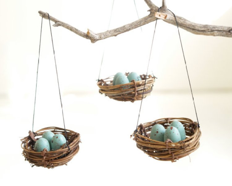 unusual holiday handmade crafts, bird nest