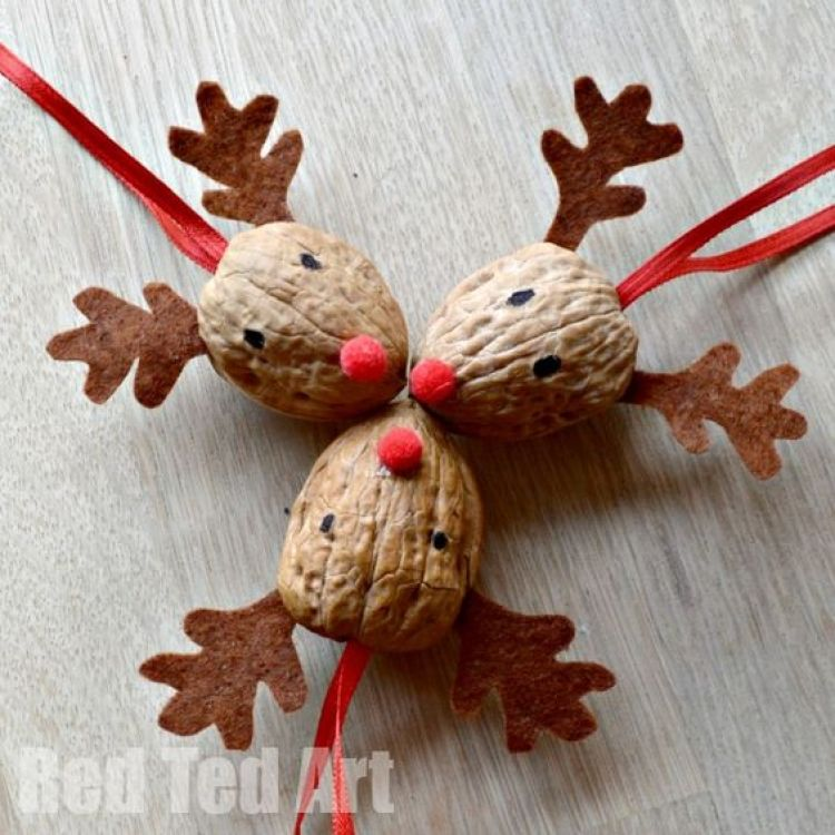unusual holiday handmade crafts, walnuts