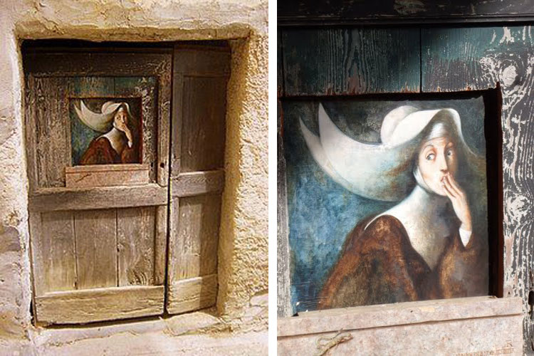 unusual and creative painted doors, Italy 3