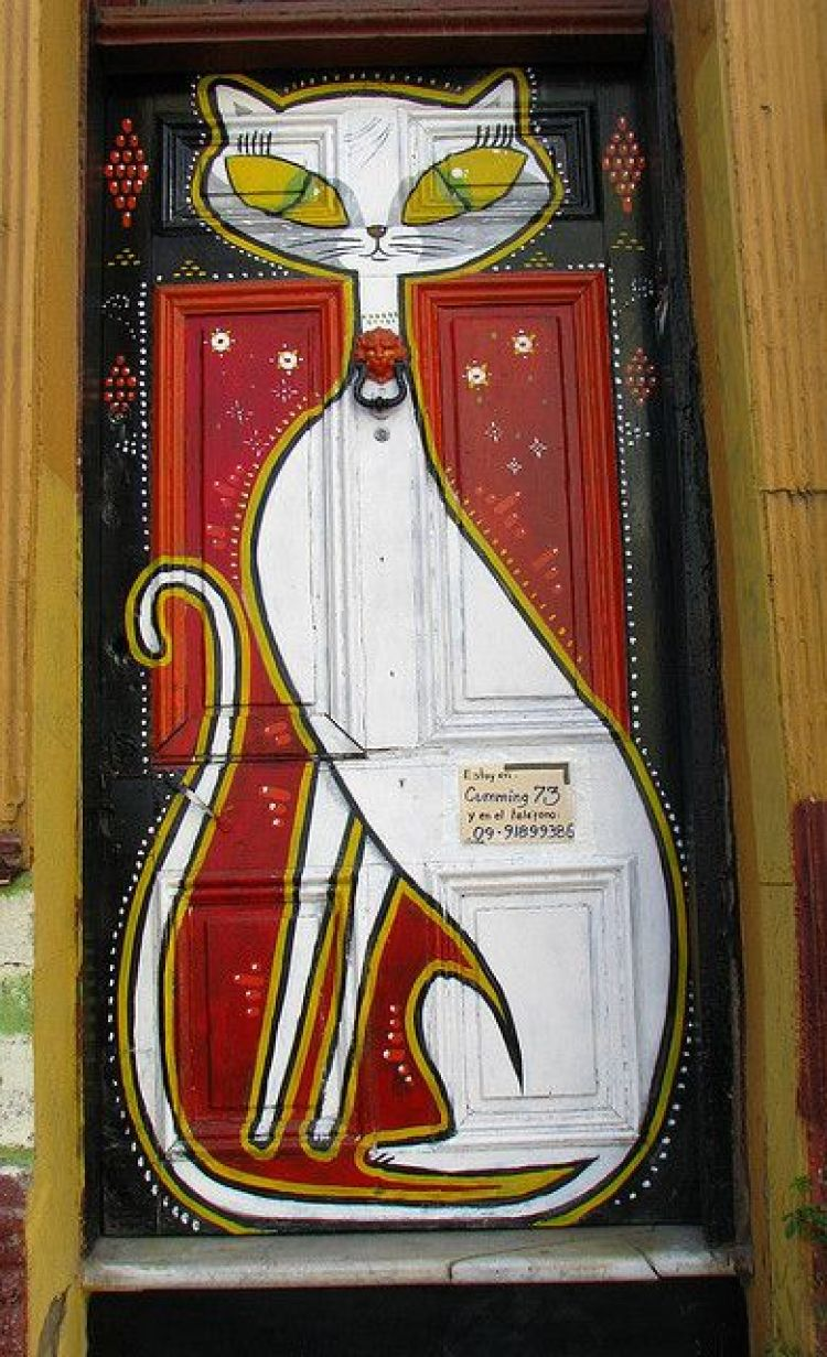 unusual and creative painted doors, Chili