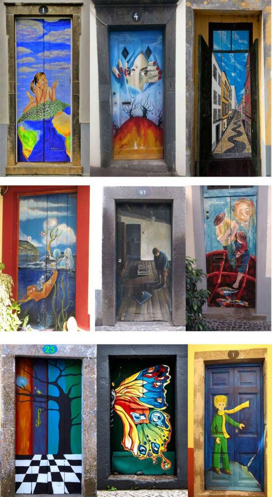 unusual and creative painted doors Portugal 5 & Street Door Art. Creative Painted Doors Around The World. - Moco-choco