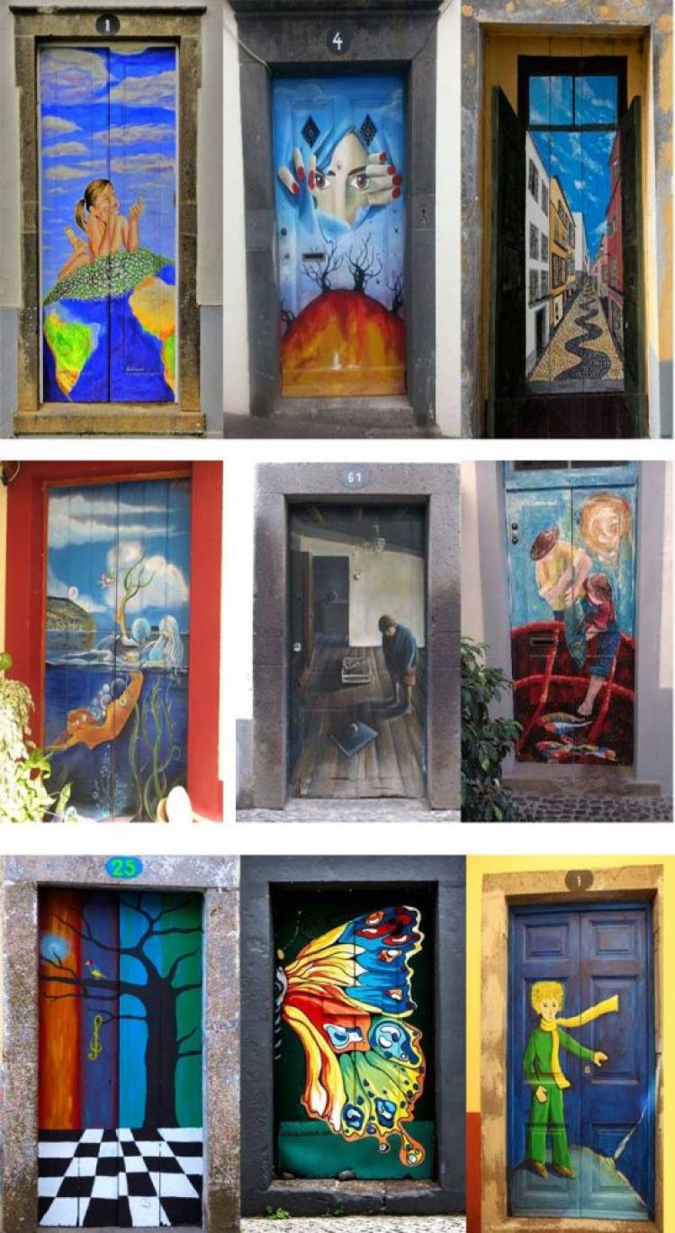 unusual and creative painted doors, Portugal 5