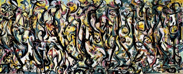 art history, the earliest paintings done by famous painters, Pollock