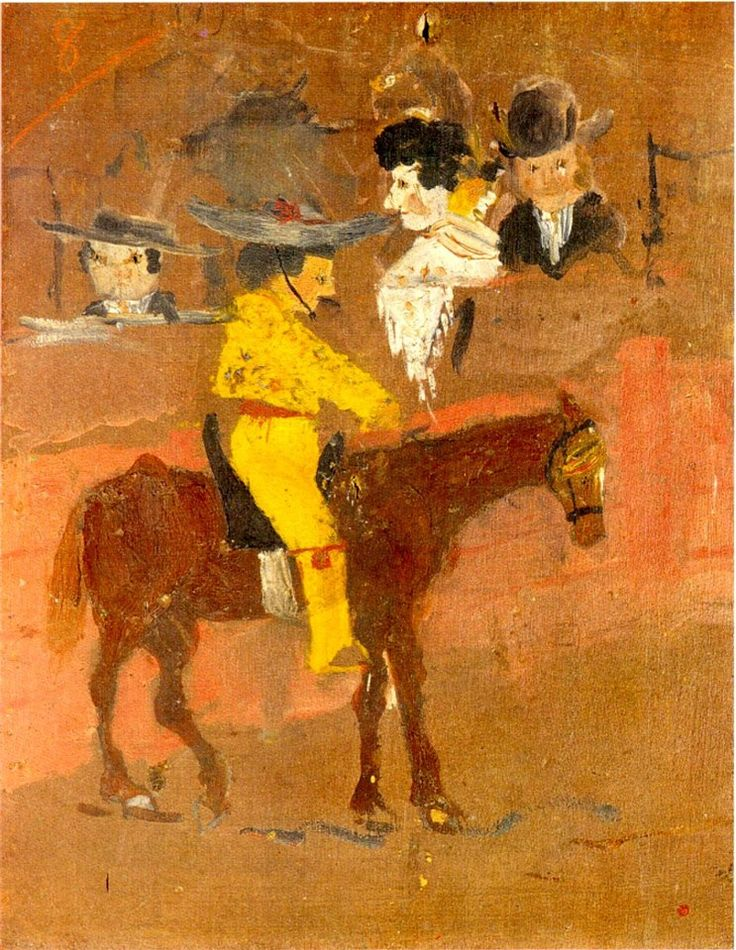 art history, the earliest paintings done by famous painters, El picador