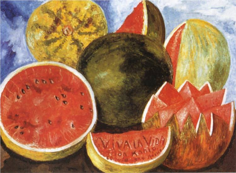 art history, the last paintings done by famous painters, viva la vida watermelons