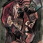 art history, the last paintings done by famous painters, Self Portrait of Picasso 2