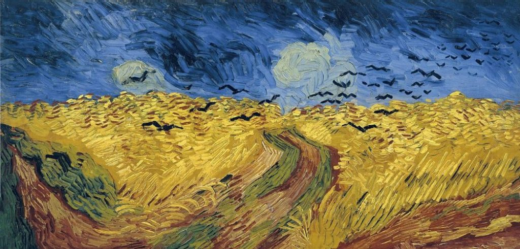 art history, the last paintings done by famous painters, Wheatfield With Crows