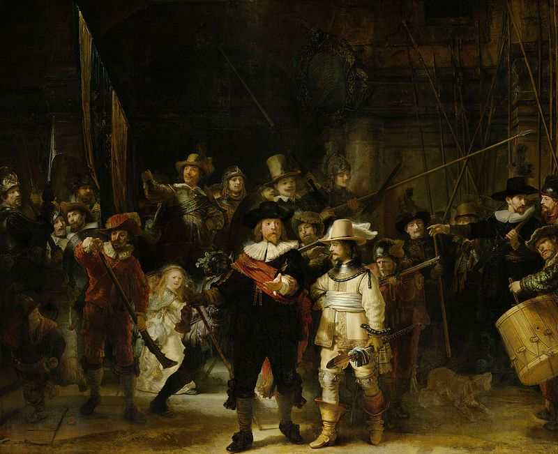 art history, most popular paintings done by famous painters, The Night Watch