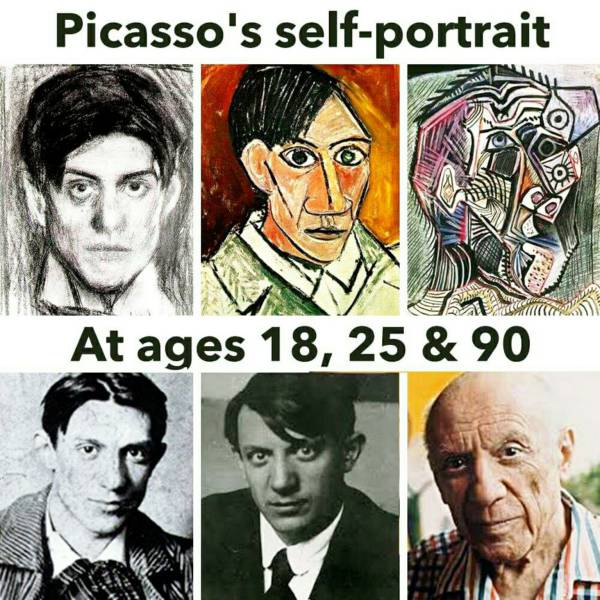 Self portraits and photos of Picasso