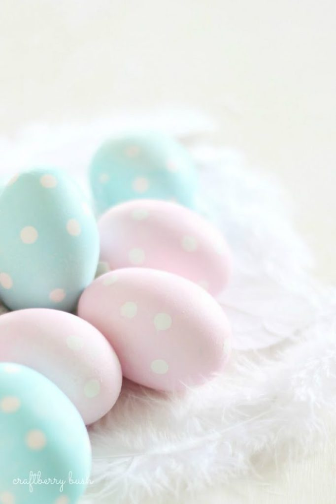 fun ways to dye easter eggs, polca dot