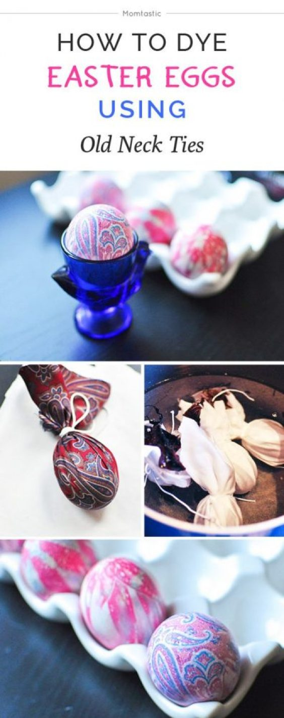 fun ways to dye easter eggs, silk
