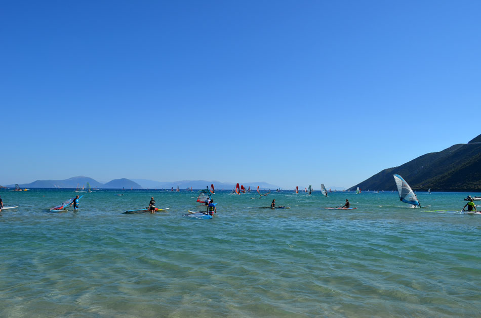 the most popular windsurfing spot in Greece, Vassiliki beach 5