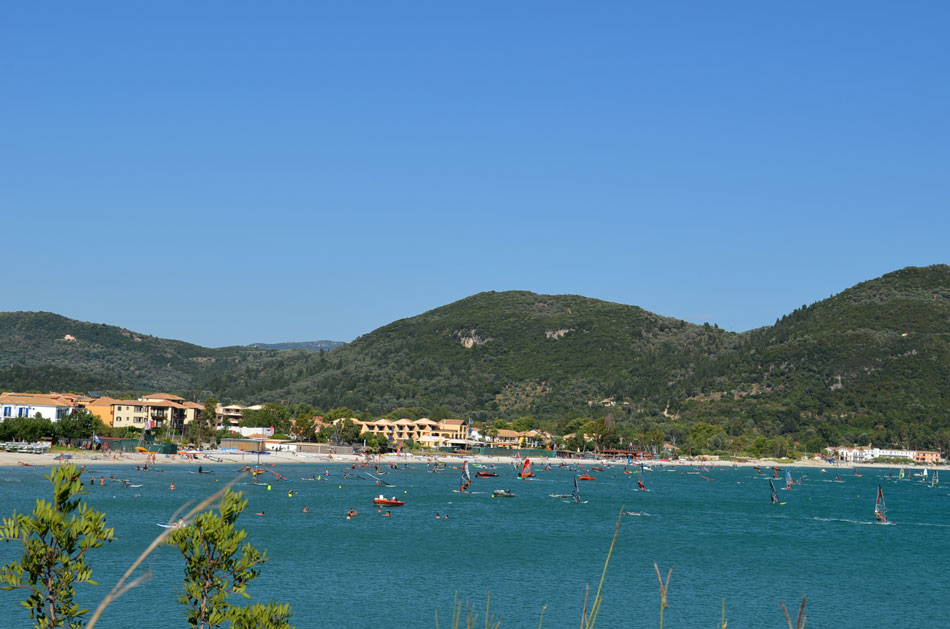 the most popular windsurfing spot in Greece, Vassiliki beach 8