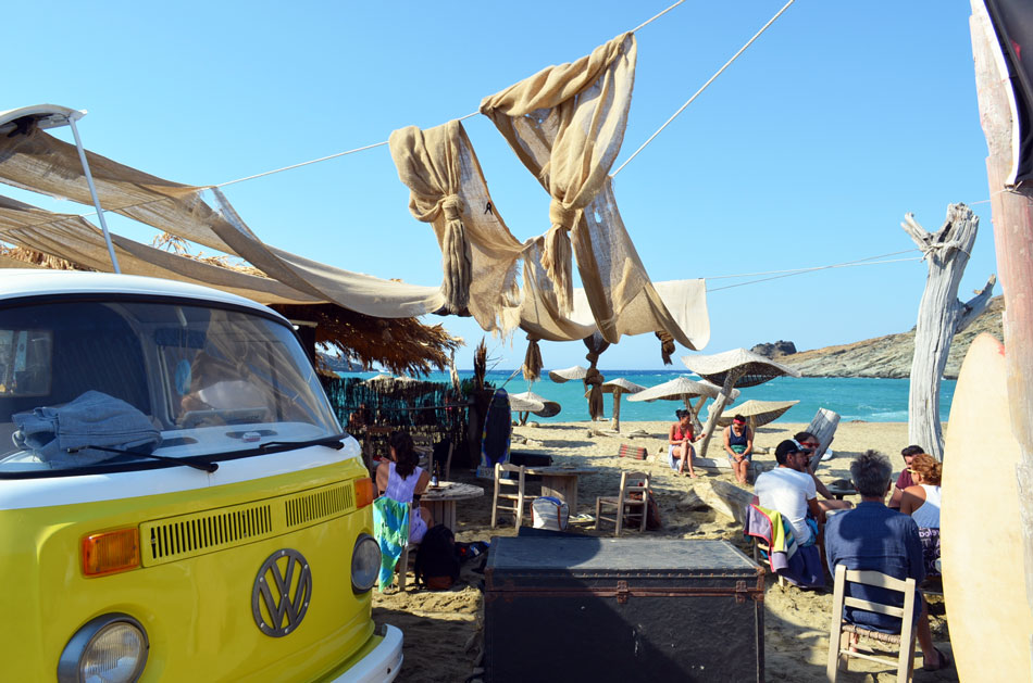 Tinos Surf Lessons Beach Bar, One of The Top 10 Beach Bars in Greece