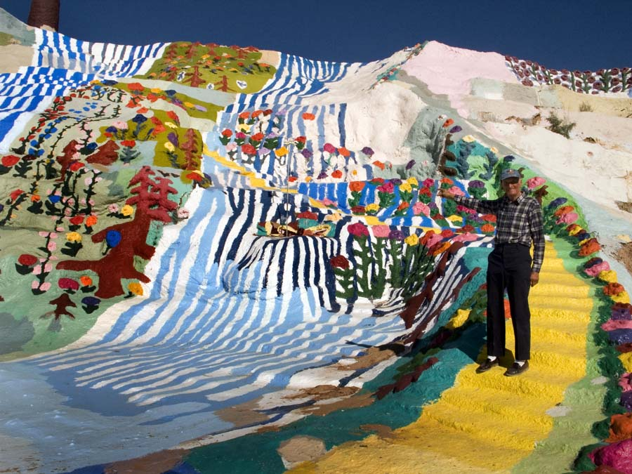 creative painting on a mountain in California 2