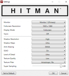 Hitman Settings 3