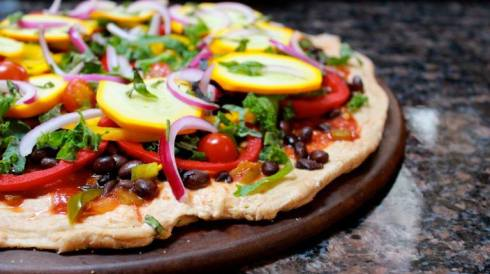 healthy pizza recipe with black beans