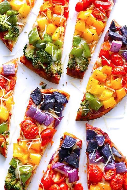 healthy rainbow pizza recipe