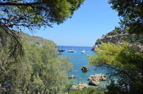 Best beaches of the Greek island Rhodes, Anthony Quinn