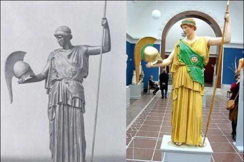 the original colors of ancient Greek and Roman sculptures 12