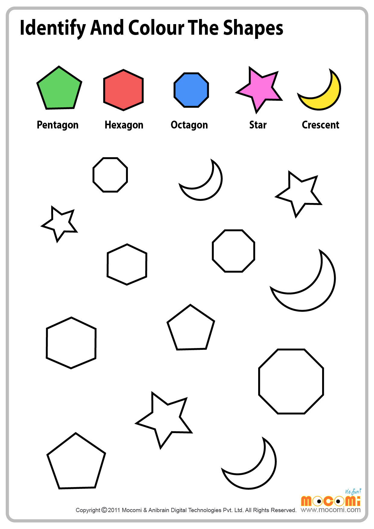 Matching Shapes Worksheets For Preschool And Kindergarten Matching Best Free Printable Worksheets