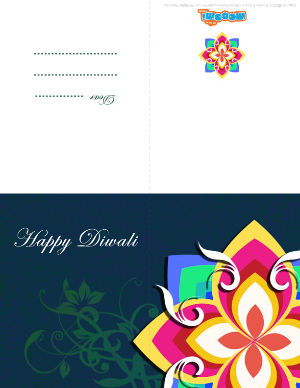 Diwali Rangoli Pattern Diwali Greeting Card For Kids
