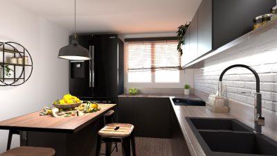 Image représentant les réalisations de cuisines en 3D
