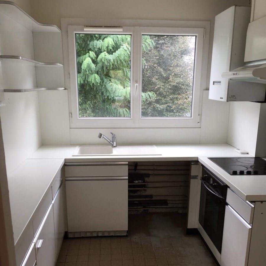 Photo montrant une cuisine avant rénovation