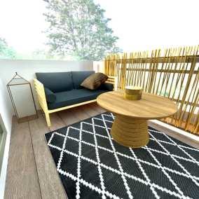 Image montrant une vue d'une terrasse modélisée en 3D