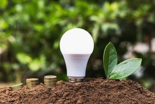 Image montrant une ampoule led pour représenter les économies d'énergie