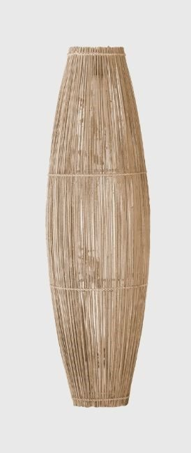 Image qui représente une Lampe en rotin du style bohème