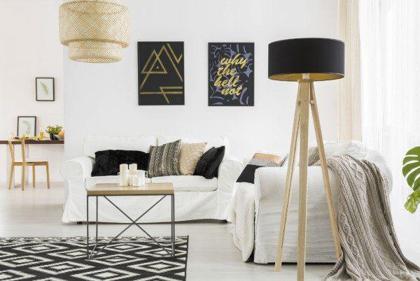 Lampe trépied du style Scandinave