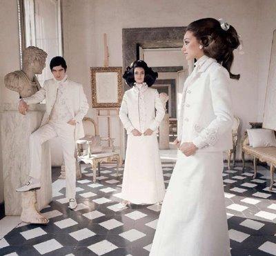 """Dizionario della Moda Mame: Valentino. La collezione """"total white"""" del 1968."""