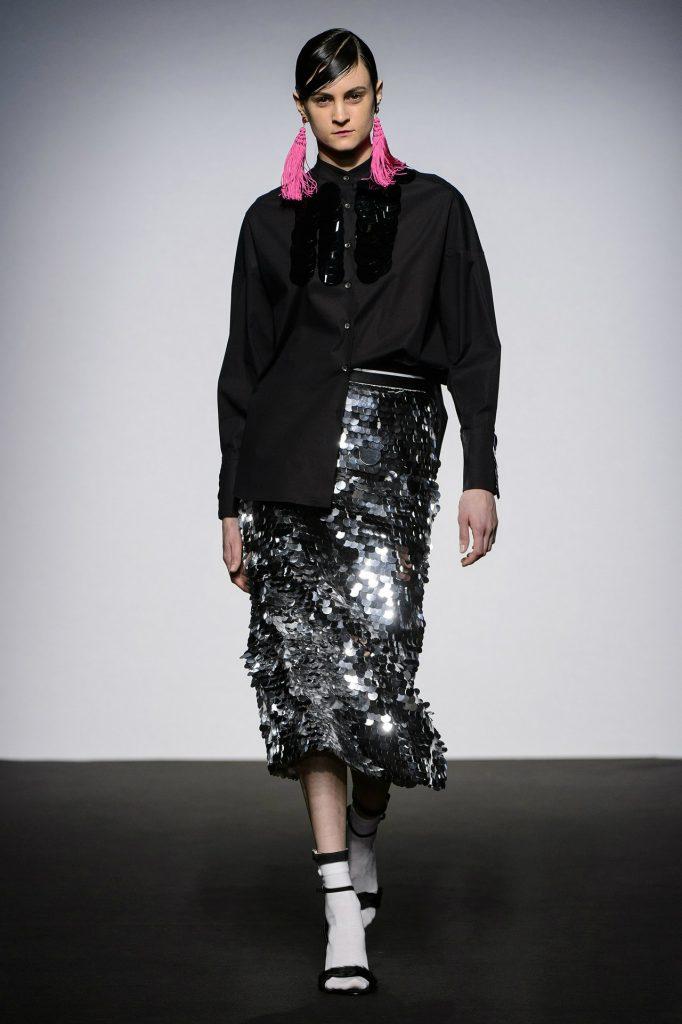 Marianna Cimini Midi skirt con macro paillettes
