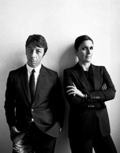 La stilista Maria Grazia Chiuri con l'amico e collega Pierpaolo Piccioli