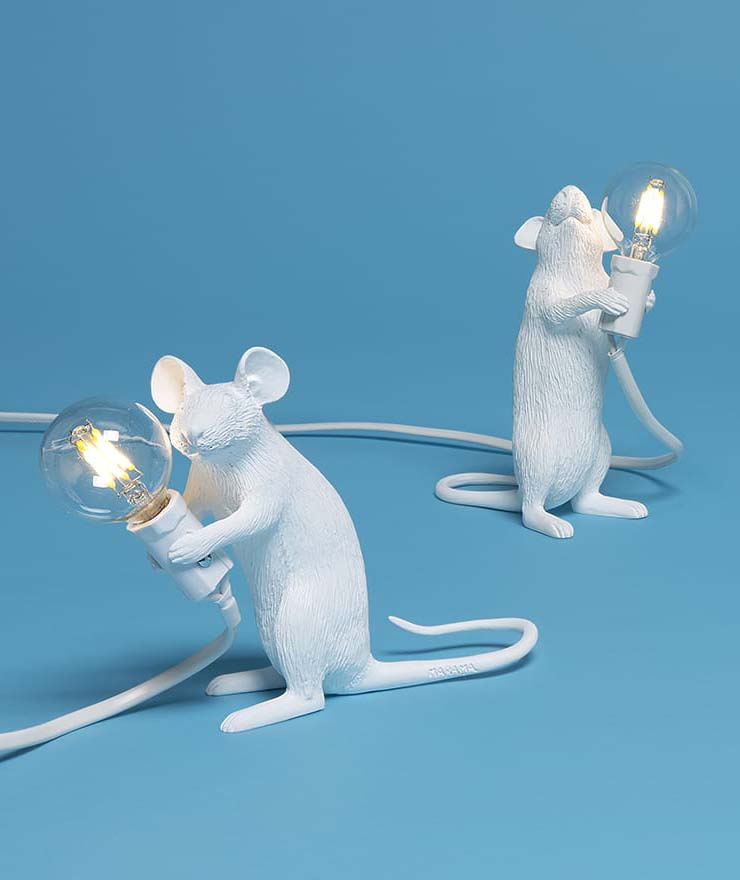 Dizionario della Moda Mame: Seletti. Mouse lamp, by Marcantonio Raimondi Malerba