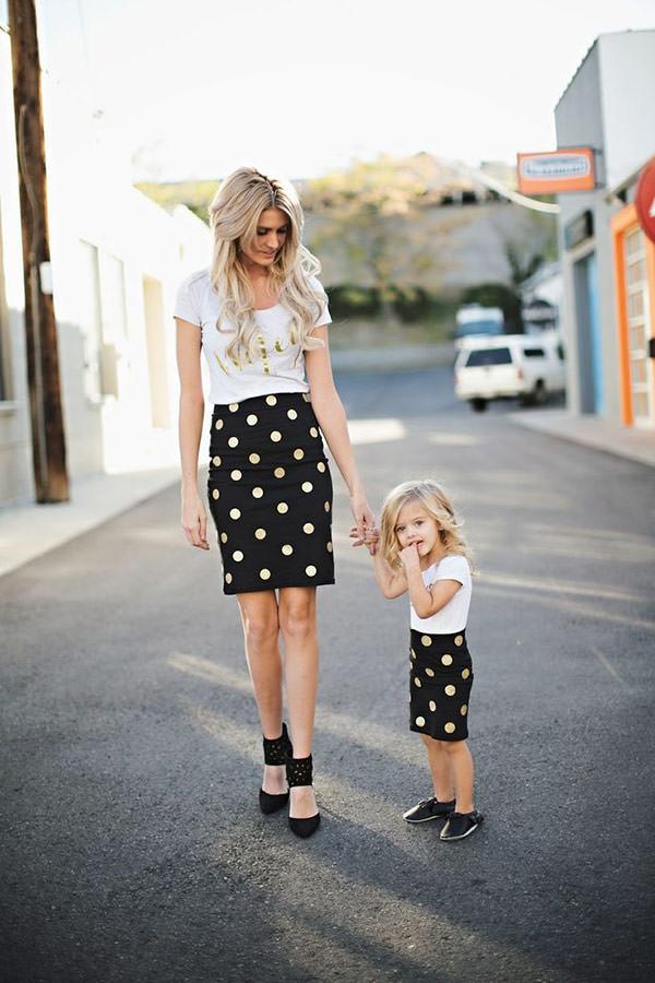 Moda Mãe e Filha Conjuntos