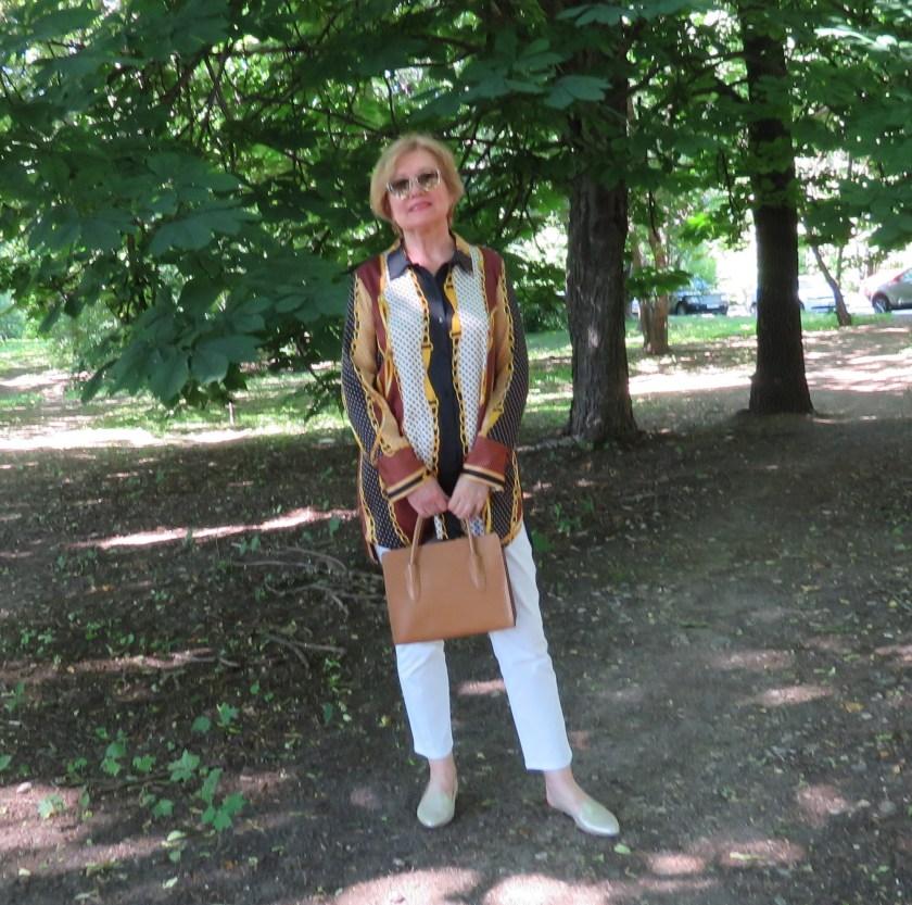 Рубашка с платочным принтом
