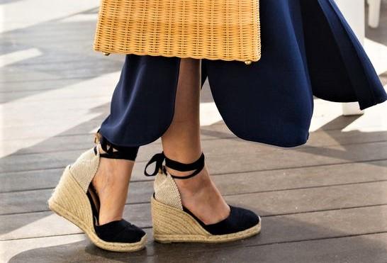 Летняя обувь из хлопка и джута