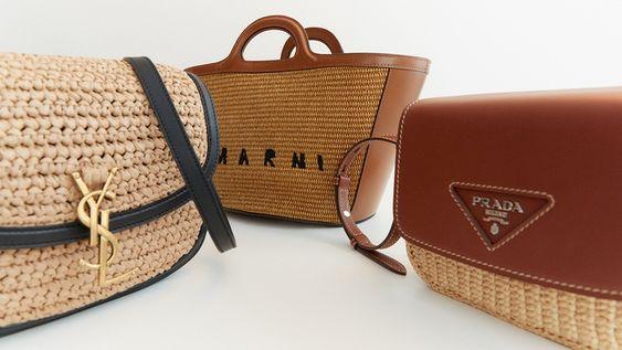сумки из рафии