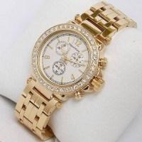 Altın tasarım bayan saatleri