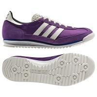 Krampon tarzı adidas lila ve gri ayakkabı