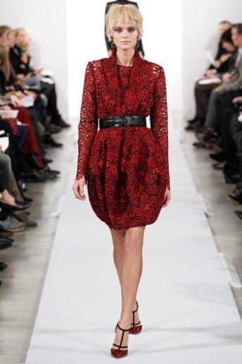 Kate Grigorieva - Oscar de la Renta 2014 Sonbahar-Kış Koleksiyonu