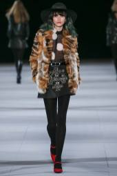 Langley Fox Hemingway - Saint Laurent Fall 2014